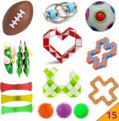 Hobbypainting.nl Pop It Fidget Toys 15 Pakket PopIt Mesh Marble TikTok Speelgoed - Pakket Fidget Toys Kinderen - Kids Fidget Toy - HP.nl®