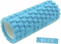 Discountershop Massageroller Massage Roller Foam Roller Fitness Sport Trigger Point Massage Yoga 14,5 x 33 cm Blauw