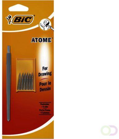 Afbeelding van Omsteekpenhouder BIC Atome blister met extra 6 punten