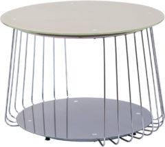 Links Link&acutes Couchtisch Riva 70 cm Glas Pantone grau