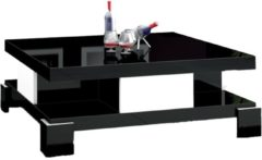 Hubertus Meble Vierkante Salontafel Selina 104x104cm - Hoogglans zwart met wit