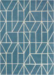 Blauwe Scion - Laagpolig vloerkleed Scion Viso Denim 24008 - 170x240 cm