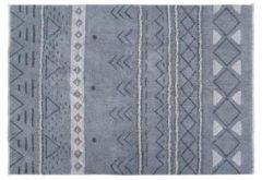 Blauwe Lorena Canals - Wollen vloerkleed - Lakota Night - 80 x 140 cm