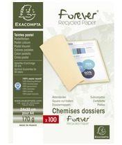 Exacompta FOREVER® 170 - Pak van 100 dossiermappen 170g/m²- 24x32cm voor A4. (420003E)