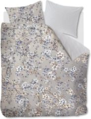 Grijze Kardol & Verstraten Kardol Fleurelle Dekbedovertrek - 2-persoons (200x200/220 Cm + 2 Slopen) - Katoen Satijn - Blue Grey