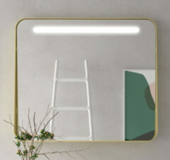 Muebles Polo spiegel met LED-verlichting 80x70cm goud