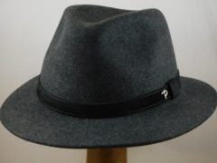 Antraciet-grijze Panizza wolvilt hoed 'Potenza' / grijs maat 62