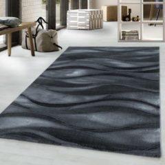 COSTA Impression Wave Design Laagpolig Vloerkleed Zwart- 140x200 CM