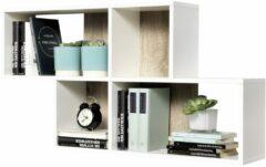 FD Furniture Wandrek Lendy 100 cm breed eiken met wit met eiken