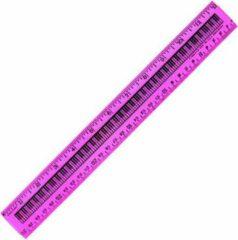AIM Liniaal met pianotoetsen 25 cm verschillende kleuren