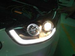 Universeel Set Koplampen DRL-Look Hyundai ix35 2010- Zwart