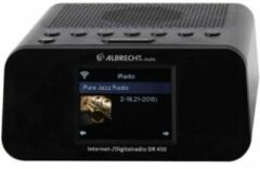 Zwarte Albrecht DR 450 Internet radio alarm clock DAB, FM Internet radio Black
