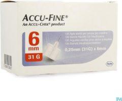 Accu-check Accu-Fine 0,25mm (31G) x 6mm