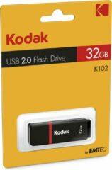 Kodak K100 32GB USB flash drive USB Type-A 2.0 Zwart, Rood
