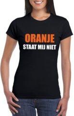 Bellatio Decorations Oranje staat mij niet t-shirt zwart dames M
