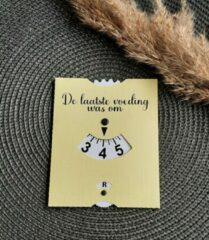 Precious beauty and more - Voedingskaart pastel geel - Babyvoeding accessoires