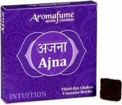Zandkleurige Aromafume Chakra Wierookblokjes: Ajna - derde oog chakra
