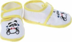 Junior Joy Babyschoenen Newborn Junior Geel Met Panda