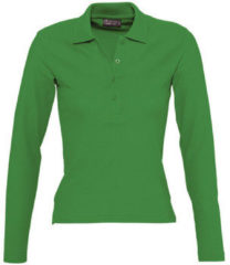 Groene Polo Shirt Lange Mouw Sols PODIUM COLORS