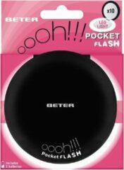 Beter Espejo Ohh! Pocket Flash Con Luz Y Aumento X10 #negro