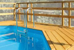 WEKA | Zonnedeck tbv zwembad 593 B (376 x 476 cm) / 594 / 59