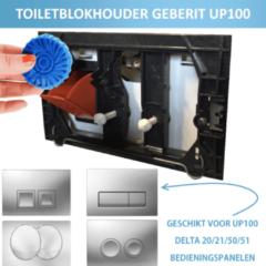 PureBasic toiletblokhouder voor Geberit duofix UP100 Delta inbouwreservoir