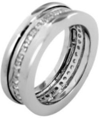 Silventi 943282259 58 Zilveren Dames Ring Rondom bezet met Zirkonia - maat 58 - zirkonia - zilverkleurig