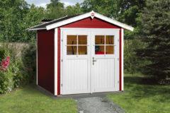 Rode WEKA   Tuinhuis 224   205 x 209 cm   Zweeds rood