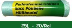 Merkloos / Sans marque PEDAALEMMERZAKJES 25 L GROEN/GEEL 20/ROL