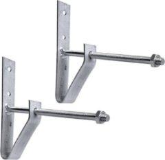 Zilveren ProPlus Bandenhouderset 2 stuks muurbevestiging