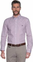 Paarse Campbell Classic Casual overhemd lange mouw