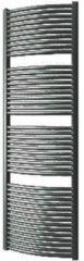 Plieger Onda designradiator horizontaal gebogen 1808x585mm 1112W zwart grafiet (black graphite) 7252486
