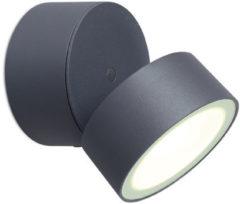 Lutec Trumpet 6260 gr LED-buitenschijnwerper Energielabel: LED (A++ - E) 11 W Neutraal wit Grijs