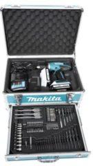 Makita DF457DWEX3 18 V/1,3 Ah Akkuschrauber-Set mit 2 Akkus und 70-tlg. Zubehör-Set
