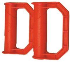 Rode Fort Veiligheid handvat rood (2 stuks) Kruiwagen