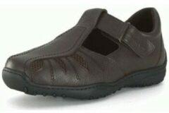 Bruine Nette schoenen Calzamedi COMFORTABEL EN BREED DIABETISCH HEREN SANDAAL