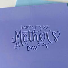 LaserBabes.nl Fondant stempel Happy Mother's Day - Moederdag - marsepein stempel - heel Holland bakt - bakken - koekjes bakken - fondantstempel
