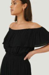 Sparkz Off-Shoulder Top - Black