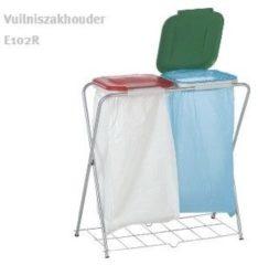Casibel Practo Home - Vuilniszakhouder - Dubbel - Met rooster - 81,5x76x37 cm