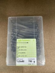 Pgb fasteners Nagel platte kop 3,5 x 80 mm 750 gram