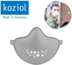 Grijze Koziol >>HI Community Mask, herbruikbaar en duurzaam mondkapje – gezichtsmasker - Organic Grey - incl. 31 filters