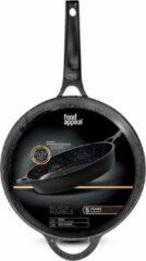 Food appeal Black Marble koekenpan, inductie pan, grote kookpan 32cm   antiaanbaklaag   zwart marmeren ontwerp   voor gasfornuis, inductiekookplaat, keramische kookplaat en elektrische kookplaat