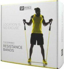 Blauwe Sports Research Performance Resistance Bands – Set van 5 weerstandselastieken