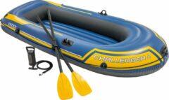 Blauwe Intex Challenger 2 Set opblaasboot