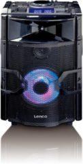 Zwarte Lenco PMX-250 - PA-speaker / DJ-mixer 200W