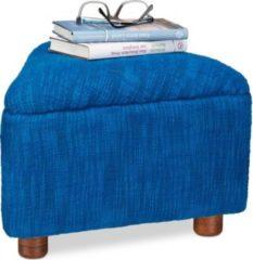 Relaxdays Fußhocker gepolstert in Blau