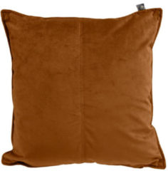 Overseas Middlestitch Velours Kussen Copper 45 x 45 cm