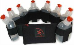 Zwarte Perfekta of Sweden Perfekta - Hardloop drinkgordel, runningbelt - 8 flesjes, size XL