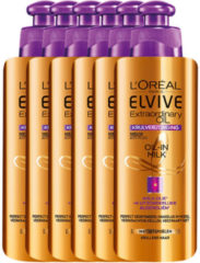 L'Oréal Paris Elvive Extraordinary Oil Krulverzorging - Voordeelverpakking 6 x 200 ml - Oil-In-Milk