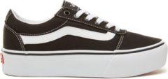 Witte Vans Wm Ward Platform Dames Sneakers - (Canvas) Black/White - Maat 38